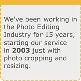 15 years of work in Photo Editing Industry