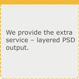 Extra Service - Layered PSD file