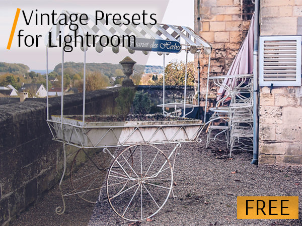 lightroom vintage preset cart poster