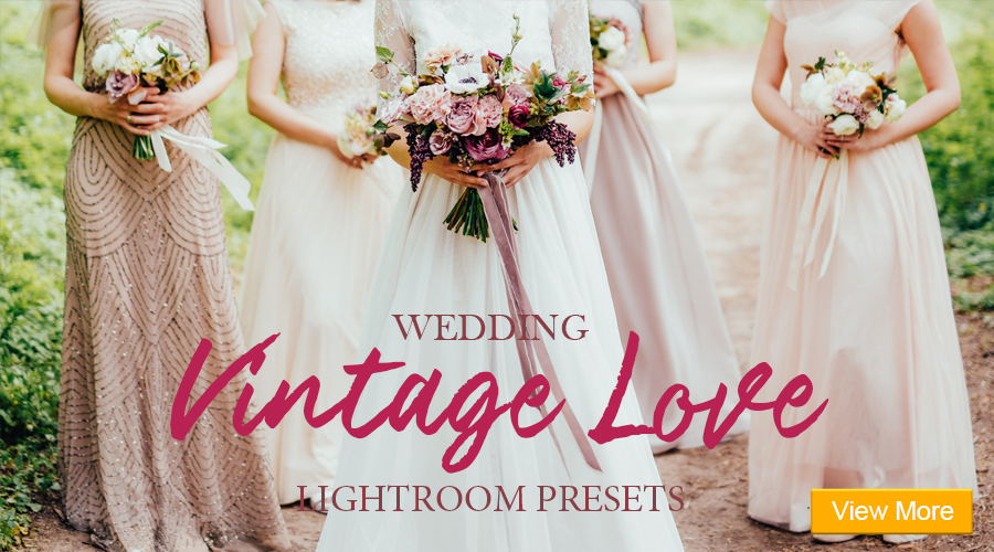 free lightroom presets wedding banner vintage love