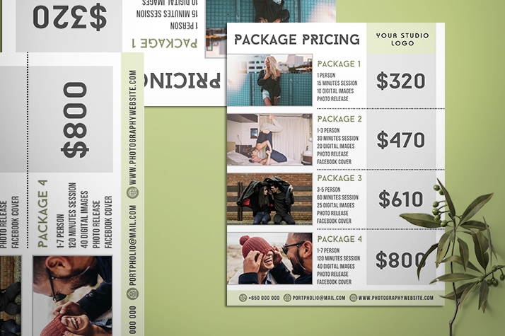 Best Photography Pricing Formula Price List For Photographer