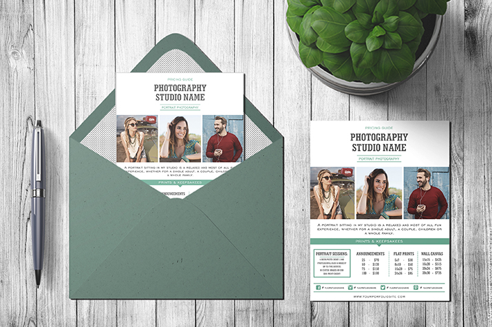 portrait photographer- pricing template