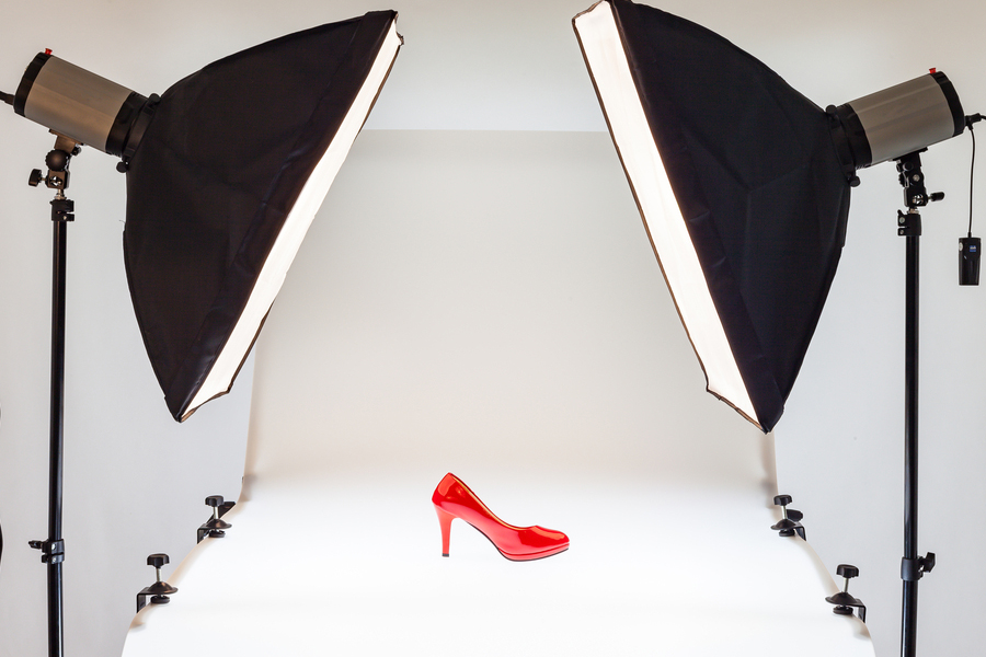 shoe photography tip white background