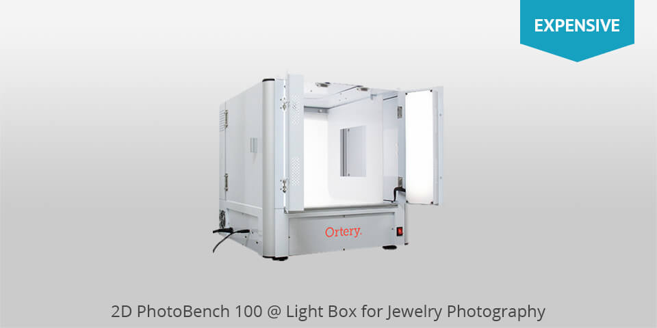 2d photobench 100 lightbox for jewelry photography