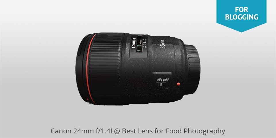 canon 24mm lens for food photo