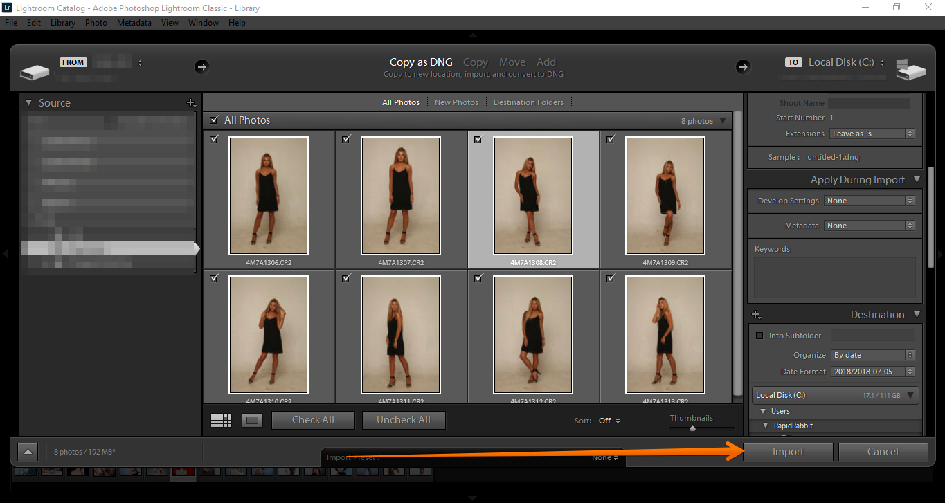 The files are not recognized by the raw format in lightroom