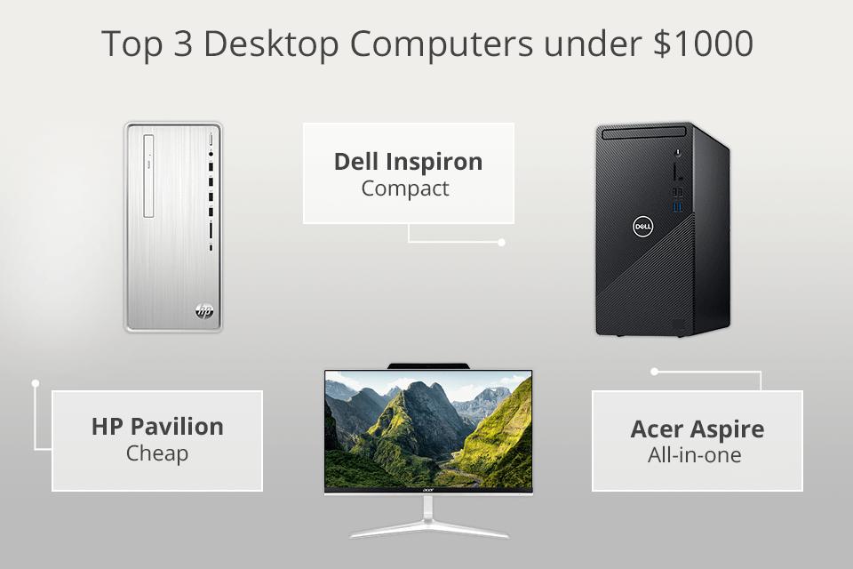 5 Best Desktop Computers Under 1000 Dollars In 2021