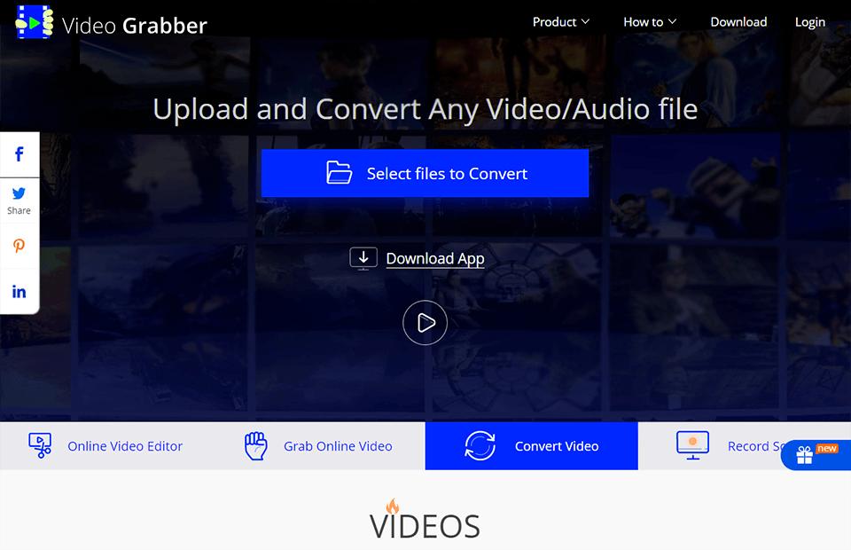 video grabber video converter no watermark interface