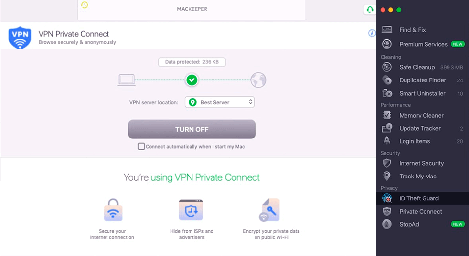 mackeeper other security and privacy tools
