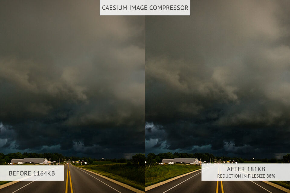 Caesium image optimizer results