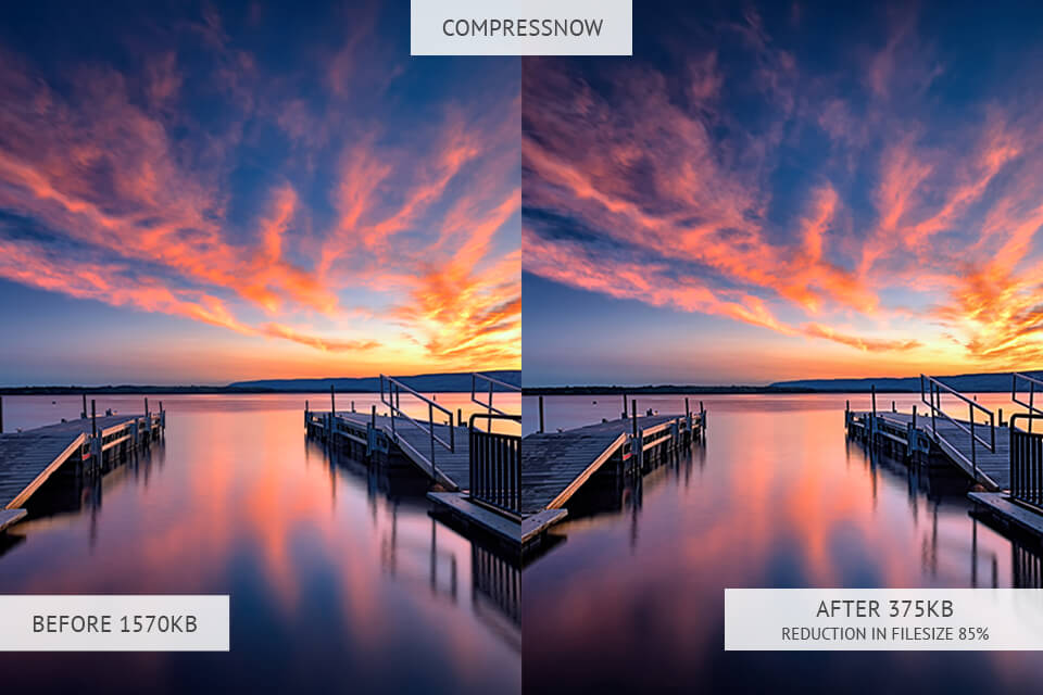 compressnow image optimizer results