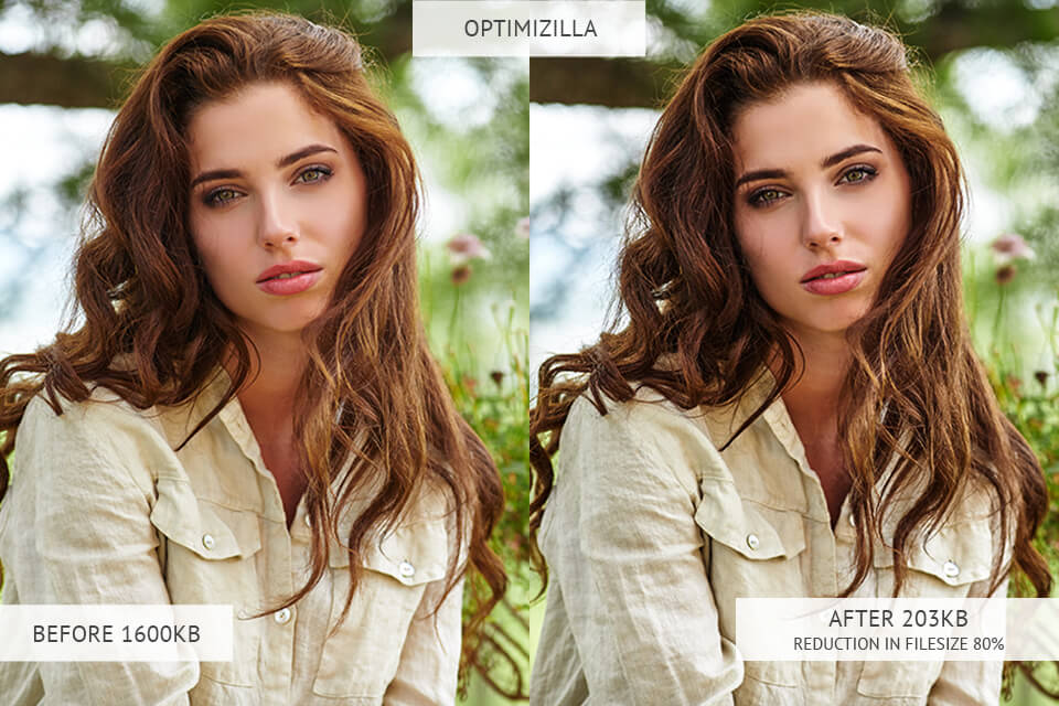 optimizilla image optimizer results