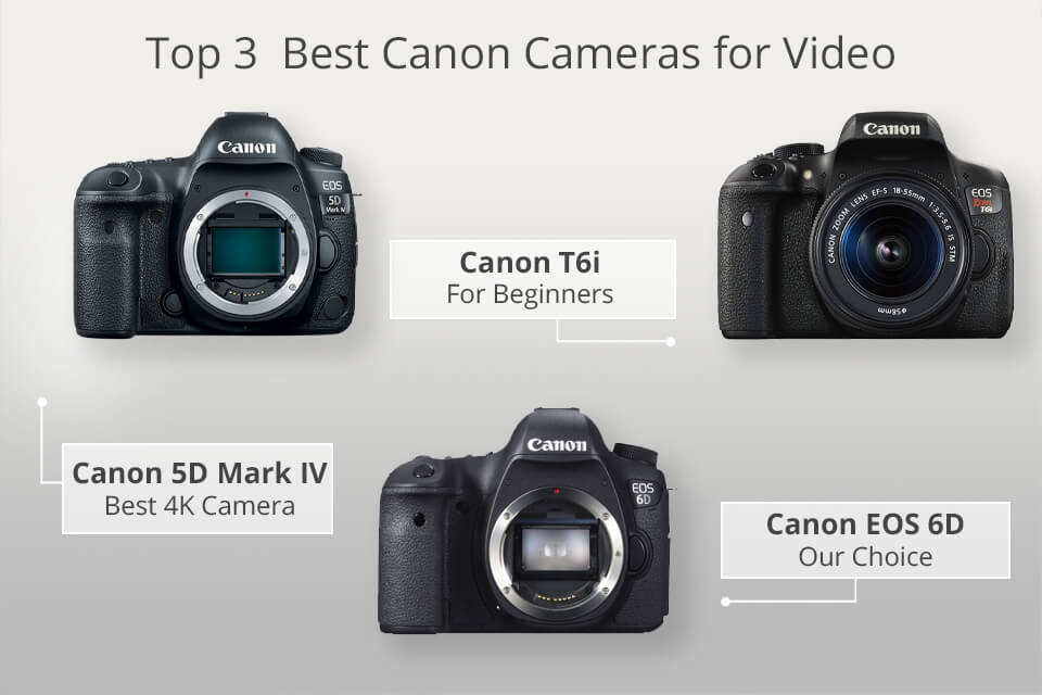 11 Best Canon Cameras for Video - What's the Best DSLR
