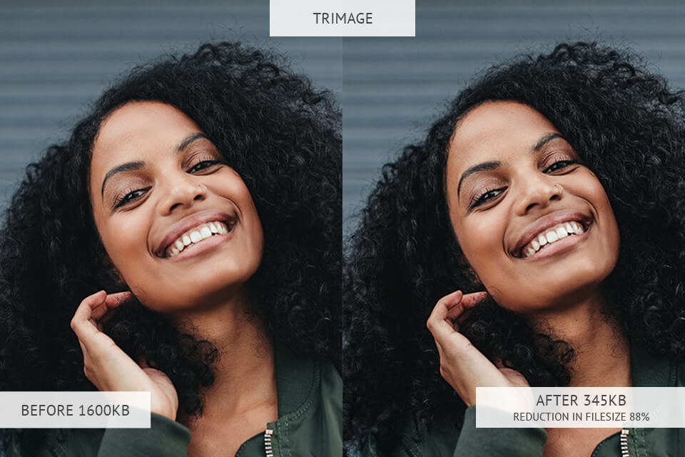 trimage image optimizer results