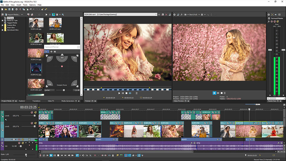 video editing software sony vegas free