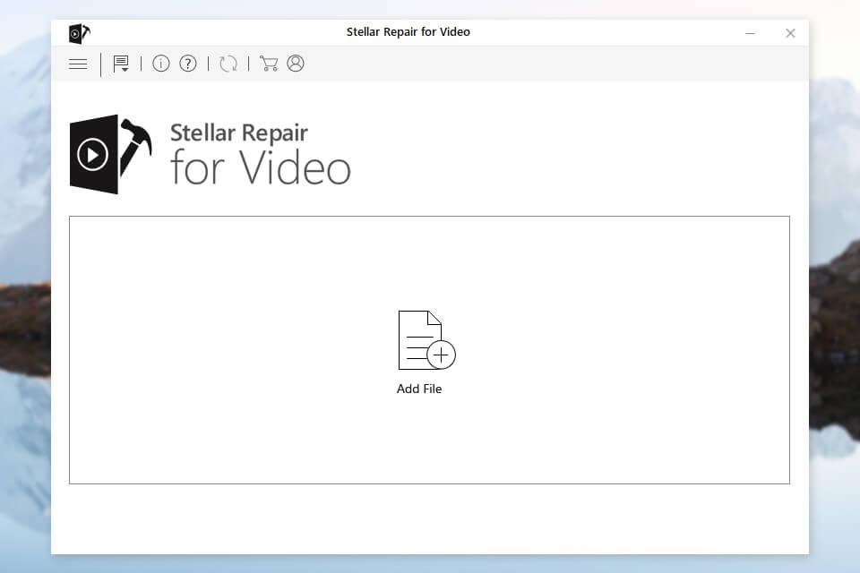 stellar video repair interface