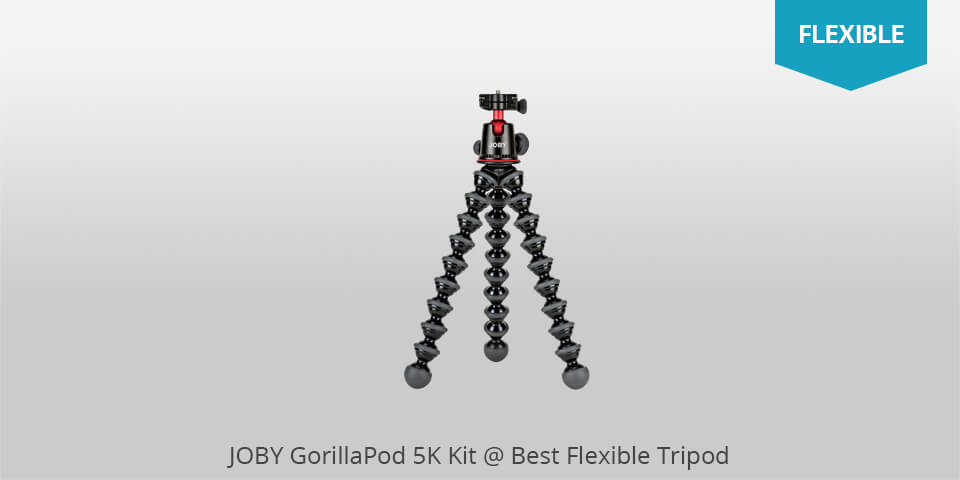 "OKTO10 10/"" Flexible Bendable Octopus Tripod with Quick-Release Plate for..."