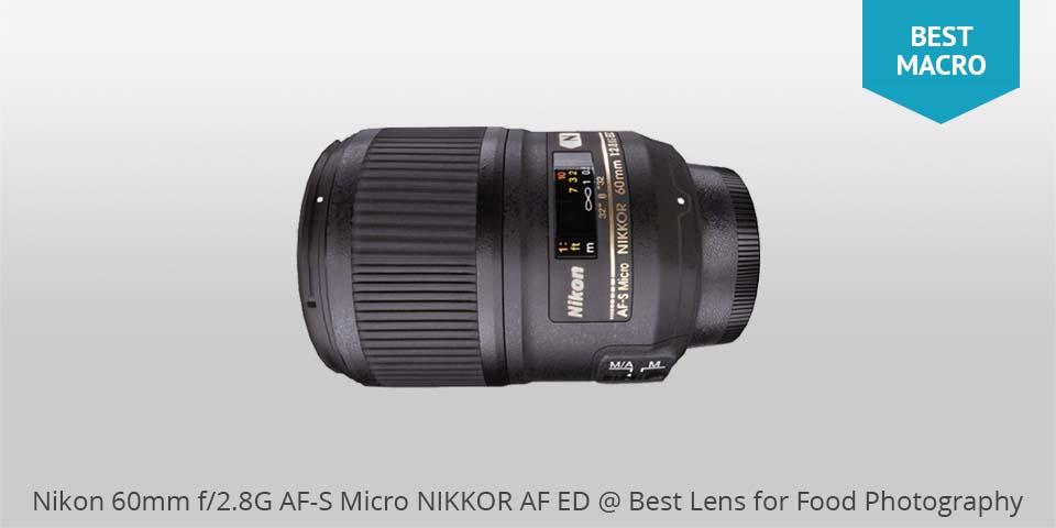 Nikon 60mm af-s macro lente para comida photo