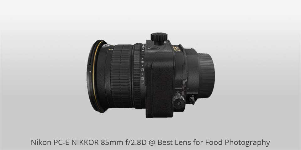 Nikon ps-e 85mm lens for food photo