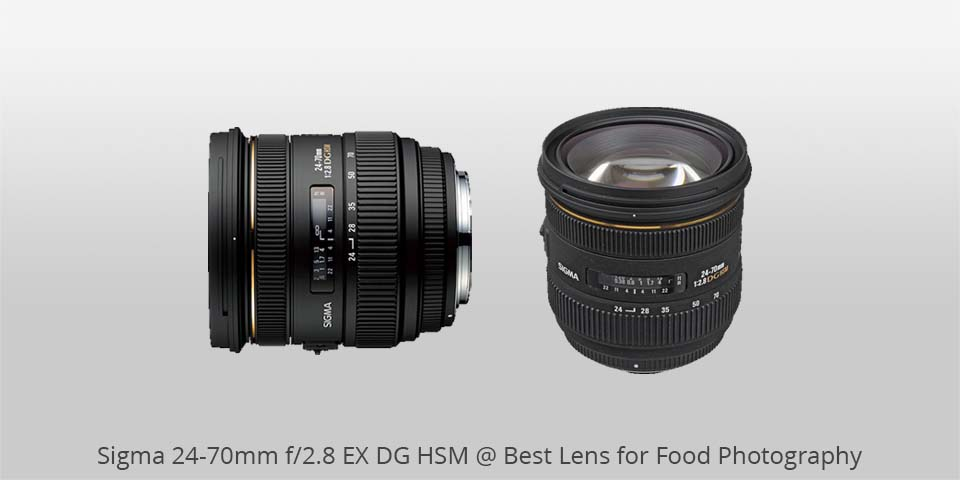 sigma 24-70mm ex dg lens for food photo