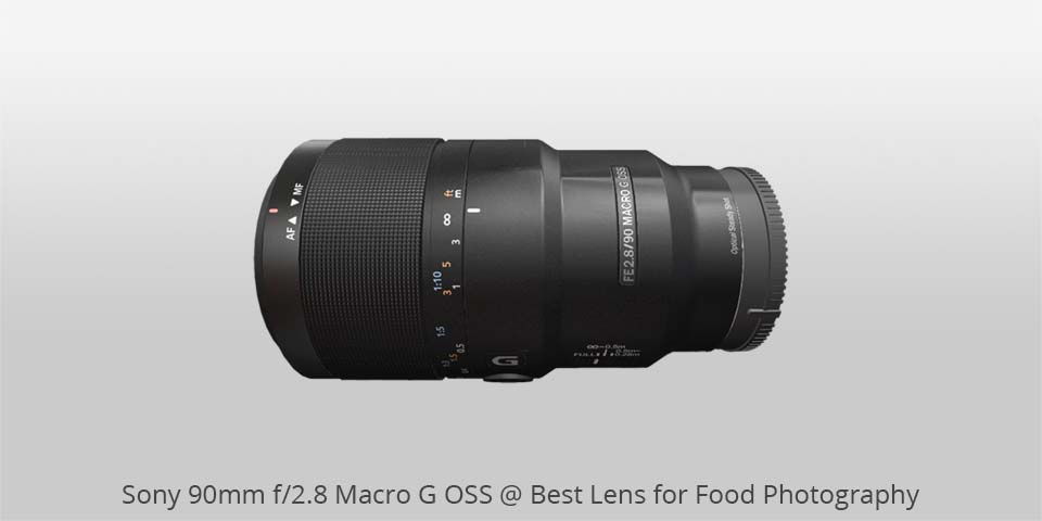 sony 90mm macro lens for food photo