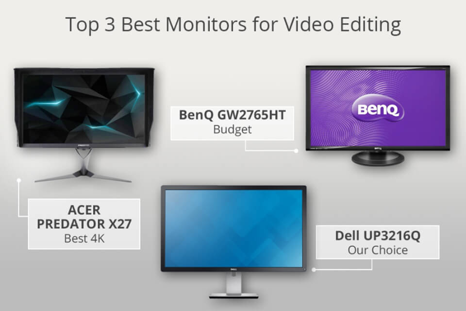 15 Best Monitors for Video Editing - Is 4k Monitor Good for Photo