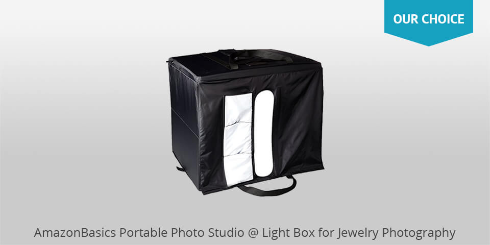amazonbasics portable photo studio for jewelry photography