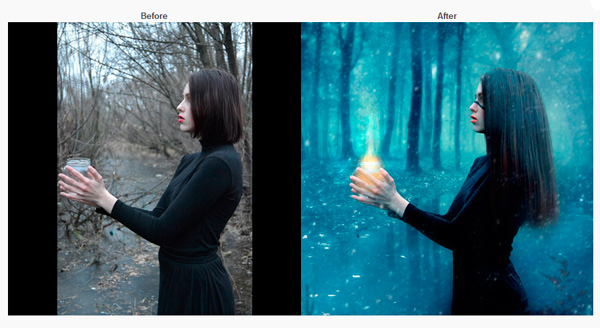 Artisitic retouching for winter photo