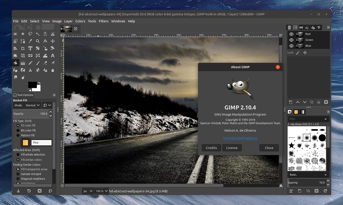 GIMP for Unix-like systems