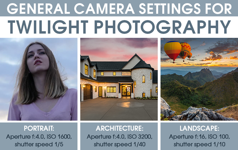 camera settings for twilight photography