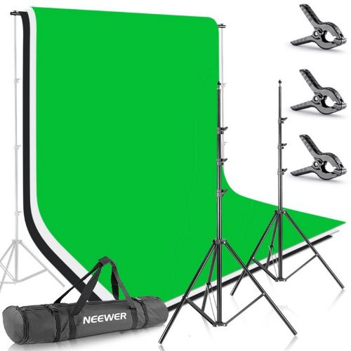 clothing photography kit with a backdrop