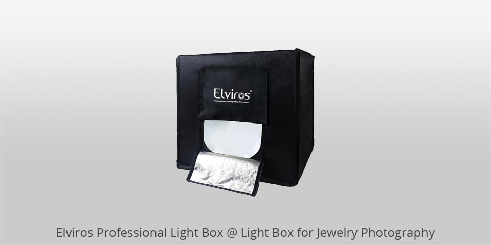 elviros professional light box for jewelry photography