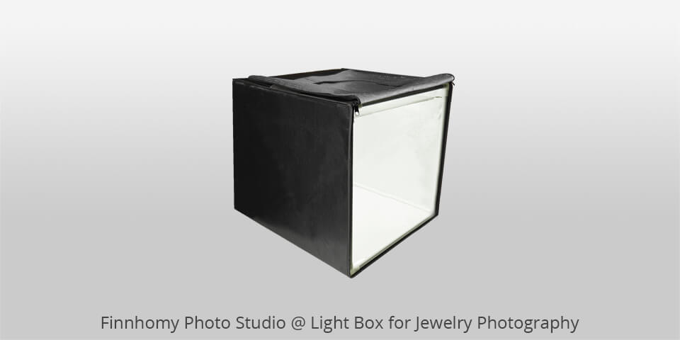 finnhomy photo studio light box for jewelry photos