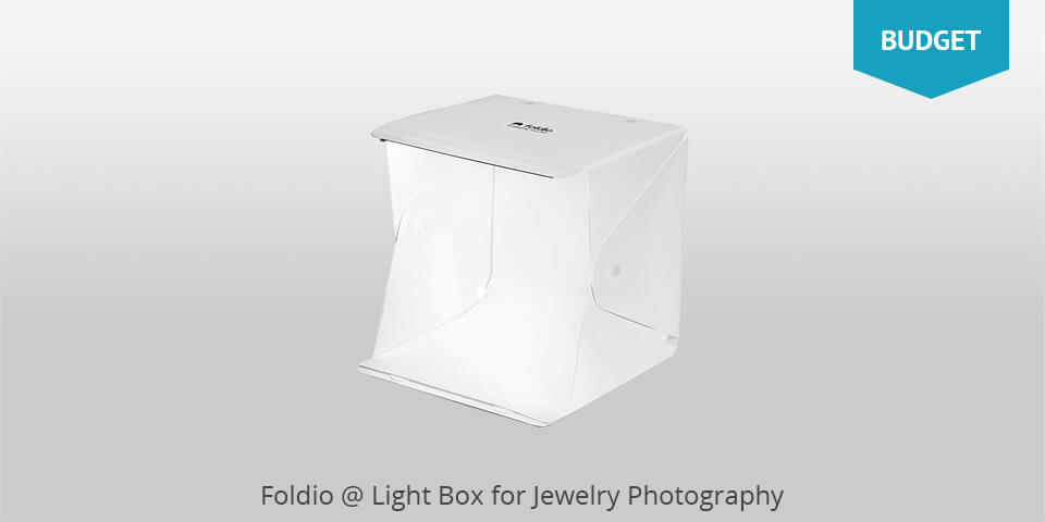 foldio light box for jewelry photography