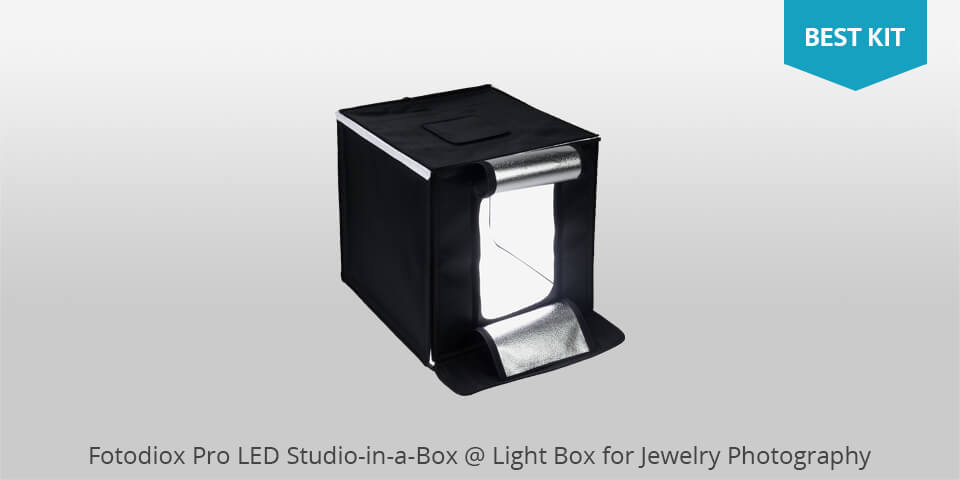 fotodiox pro led studio in a box for jewelry photography