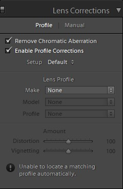 how to create lightroom preset lens corrections