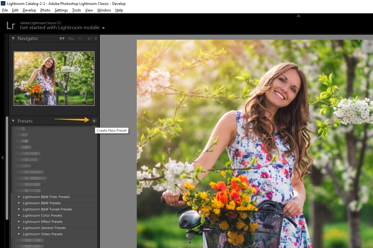 how to create lightroom preset tutorial save the preset