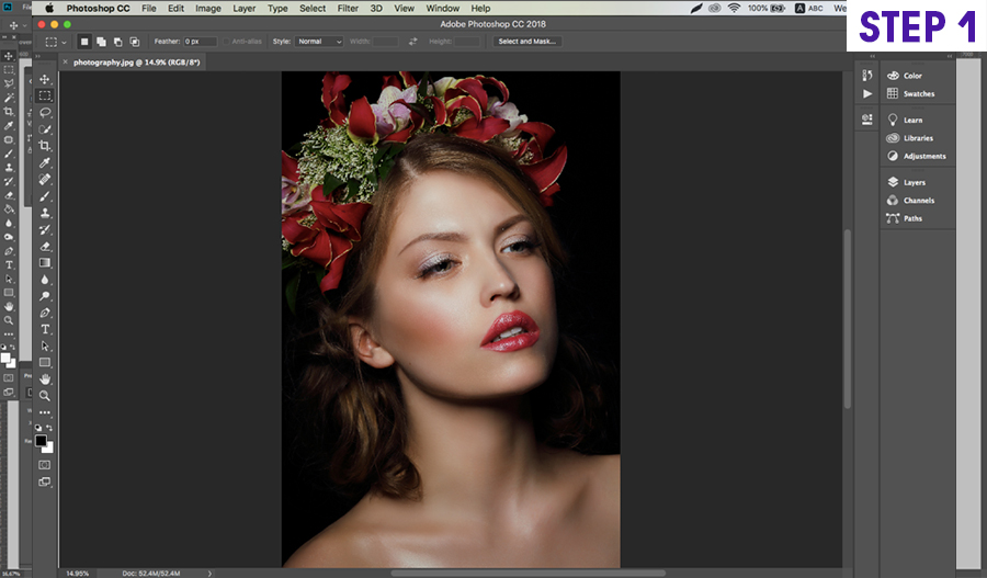 how to install on photoshop actions on Mac step 1
