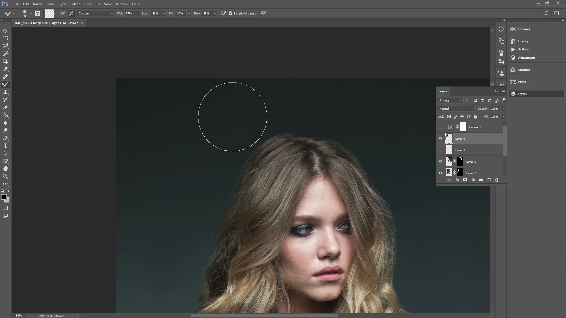 how to get rid of stray hairs in photoshop