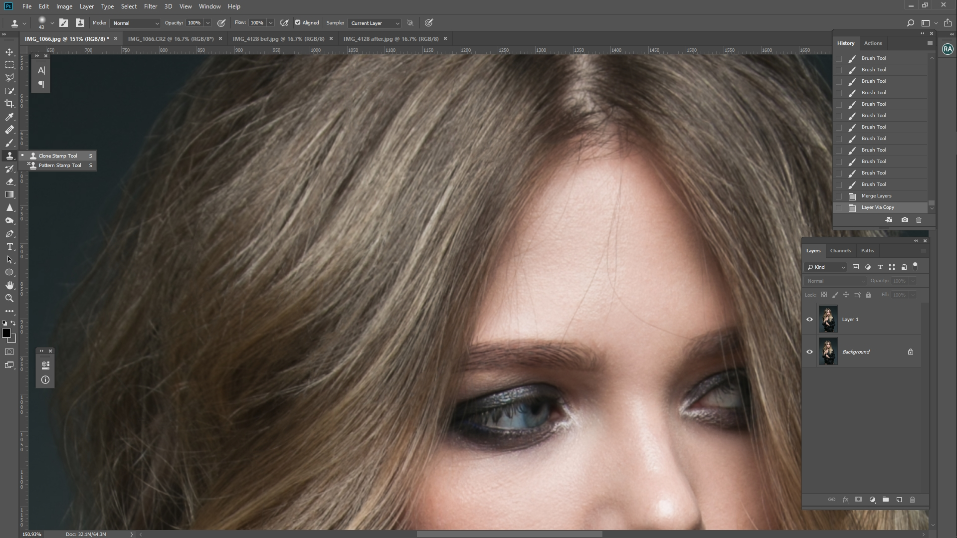 easy way to remove stray hairs in photoshop