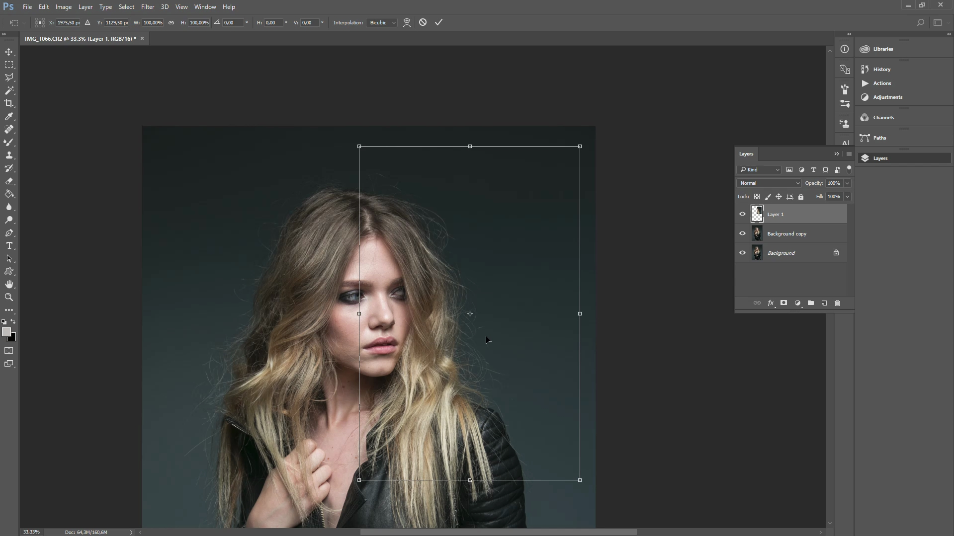 how to remove stray hairs in photoshop cc