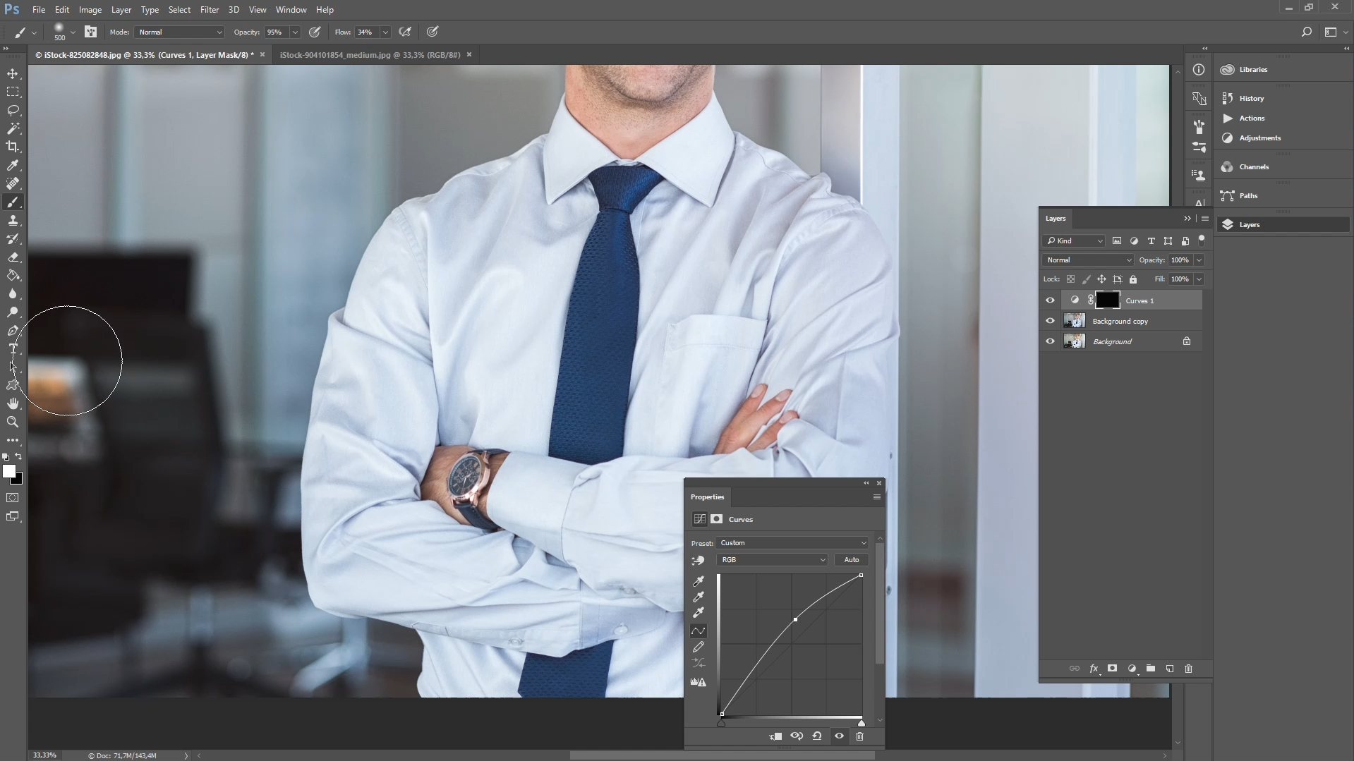 how to remove clothing wrinkles in photoshop step 2