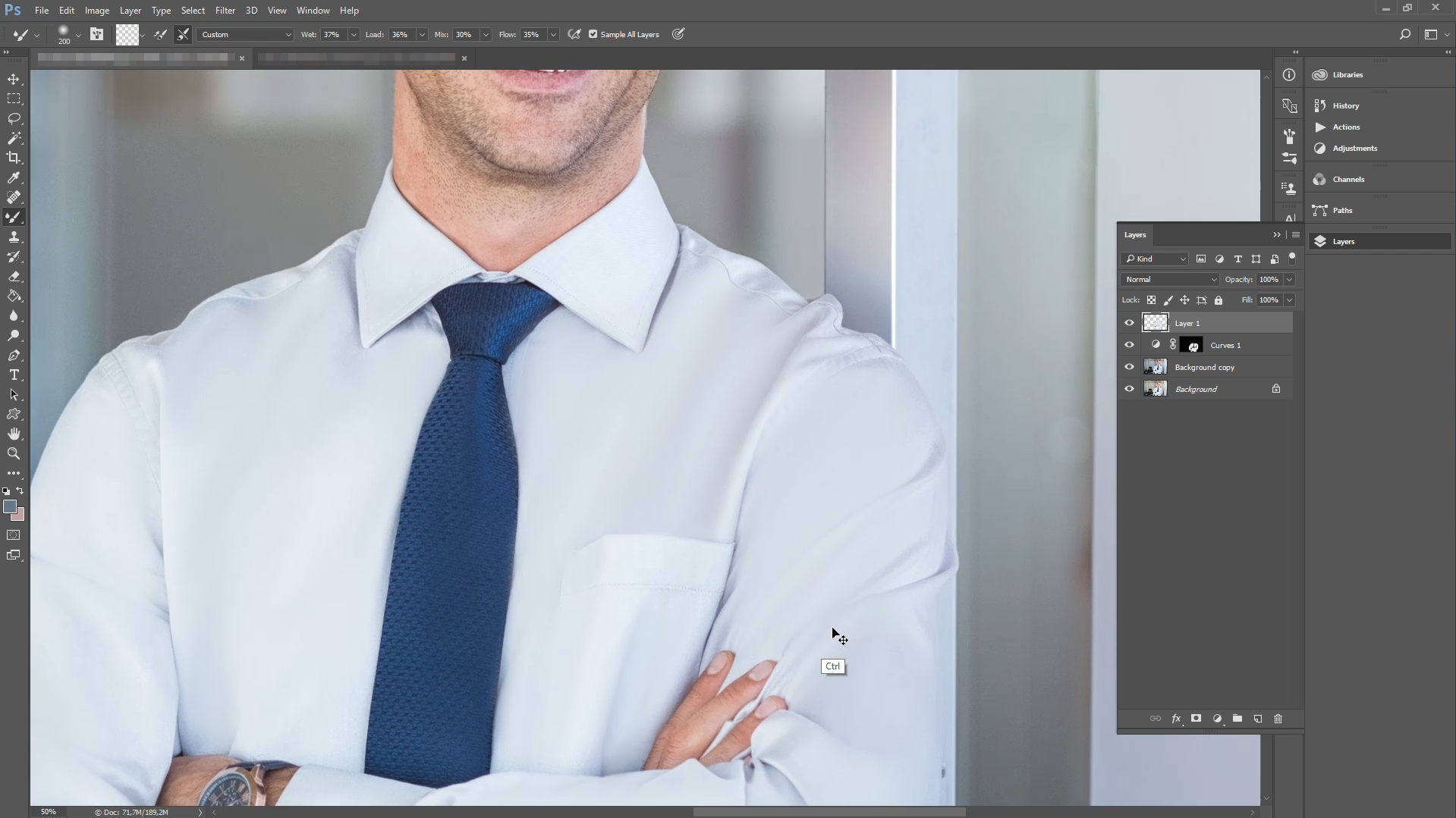 how to remove clothing wrinkles in photoshop step 5