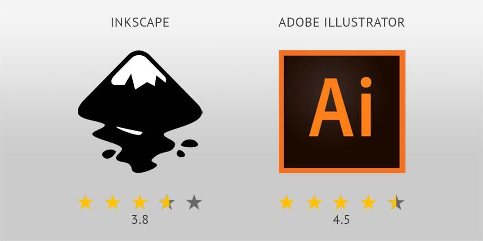 Inkscape vs Illustrator logo