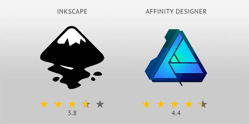 Inkscape vs Affinity Designer logo