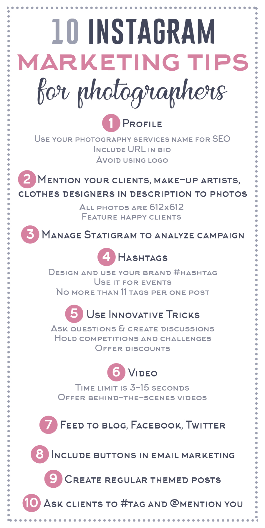 instagram marketing tips for photography business