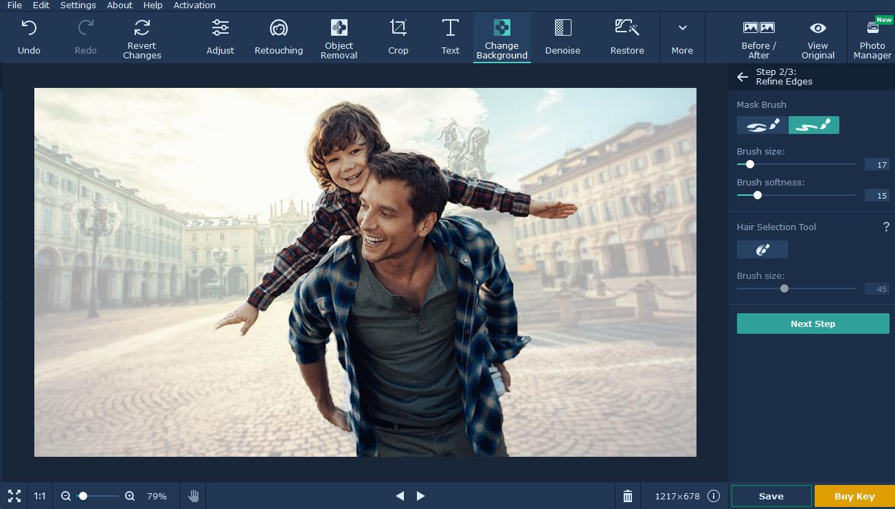 movavi photo editor tutorial background passo 7