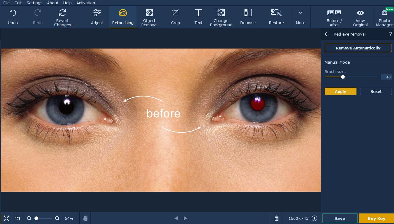 movavi photo editor corrigir olhos vermelhos