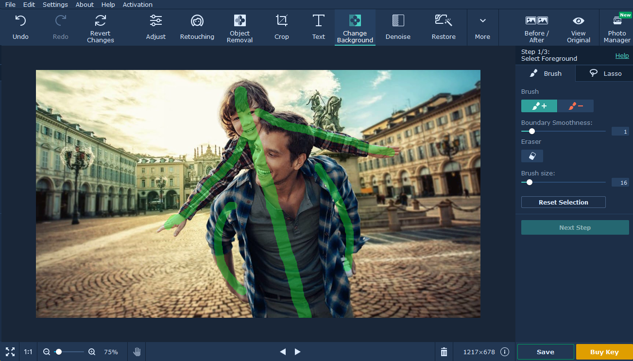 movavi photo editor tutorial background passo 2