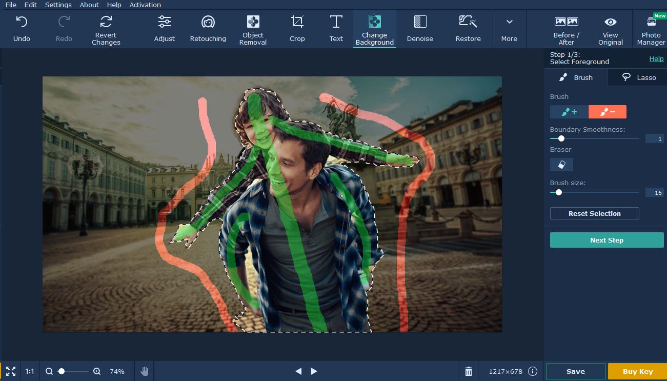 movavi photo editor tutorial background passo 3